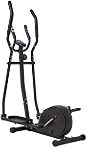 Equipment Home Gym Elliptical Cross Trainer Elliptical Machine 2 in 1 Exercise Bike Cardio Fitness Cross Trainer Home Gym Equipmen Elliptical Machine Trainer Cross Trainers (Color : Black, Size : 156x