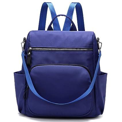 Bolso Mochila Mujer Antirrobo, Myhozee Mochilas Mujer Impermeable de Nylon Bolsa de Viaje Multifunción Bolsa Mochila Escolar Bandolera, Azul