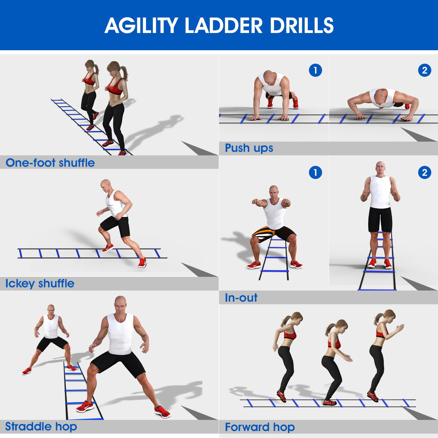 Agility Ladder Workouts For Strength | EOUA Blog