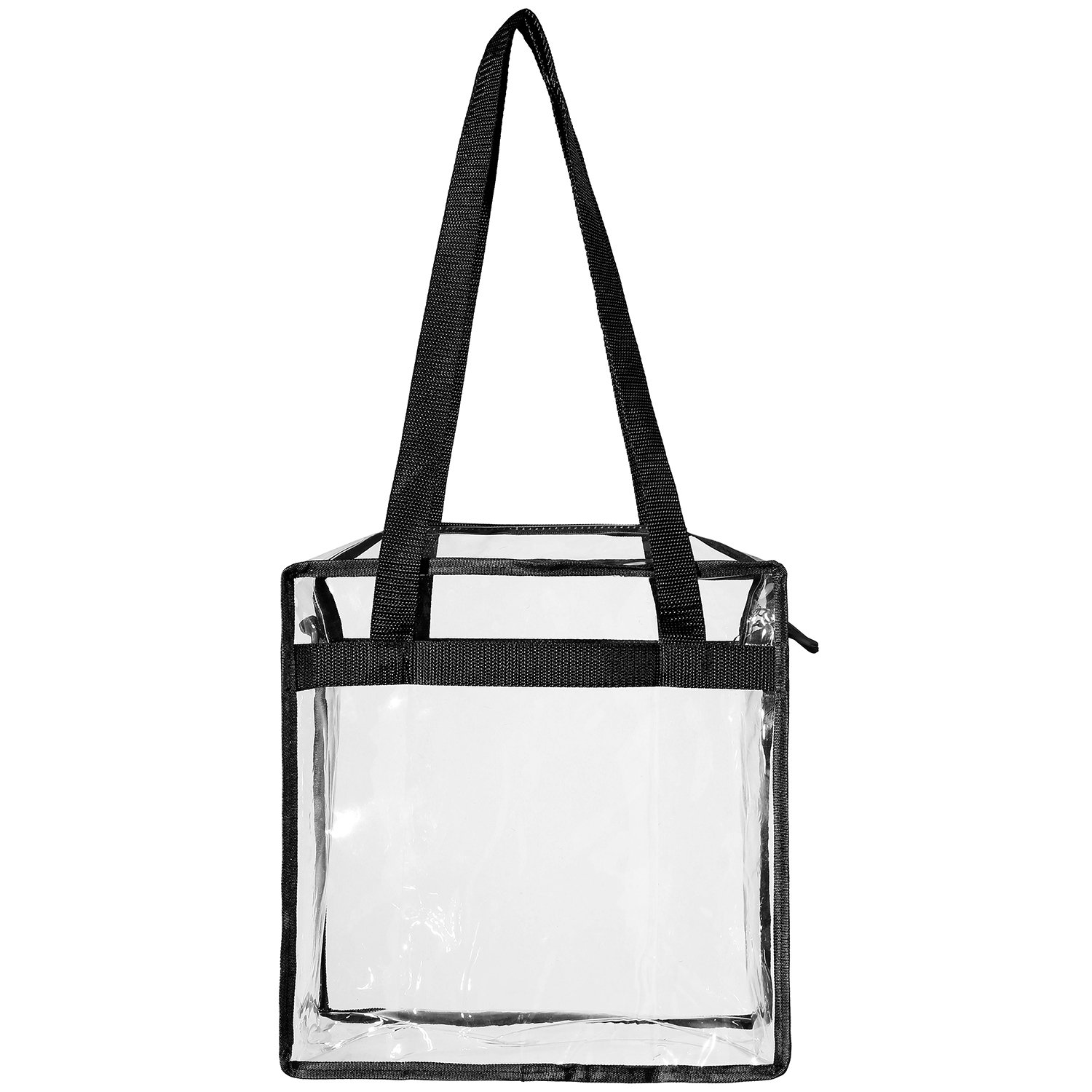 "Clear Bags NFL & PGA Stadium Approved - The Clear Tote Bag with Zipper Closure is Perfect for Work, Sports Games.Cross-Body Messenger Shoulder Bag w Adjustable Strap -12"" X 12"" X 6"" (Two Bag) by BAGAIL (Image #5)"