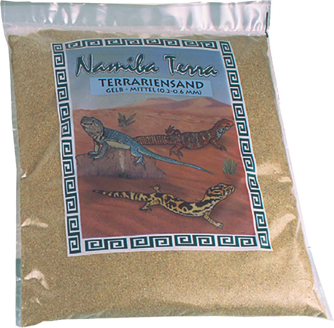 Namiba Terra 0122  terrarios Arena, 5  kg Medium 0.2  mm  –   0.6  mm, amarillo 5 kg Medium 0.2 mm - 0.6 mm