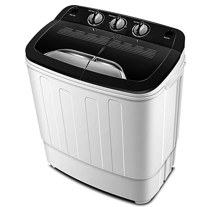 Portable Washing Machine TG23 - Twin Tub Washer Machine with Wash and Spin Cycle Compartments by ThinkGizmos (Trademark Protected) best portable washer