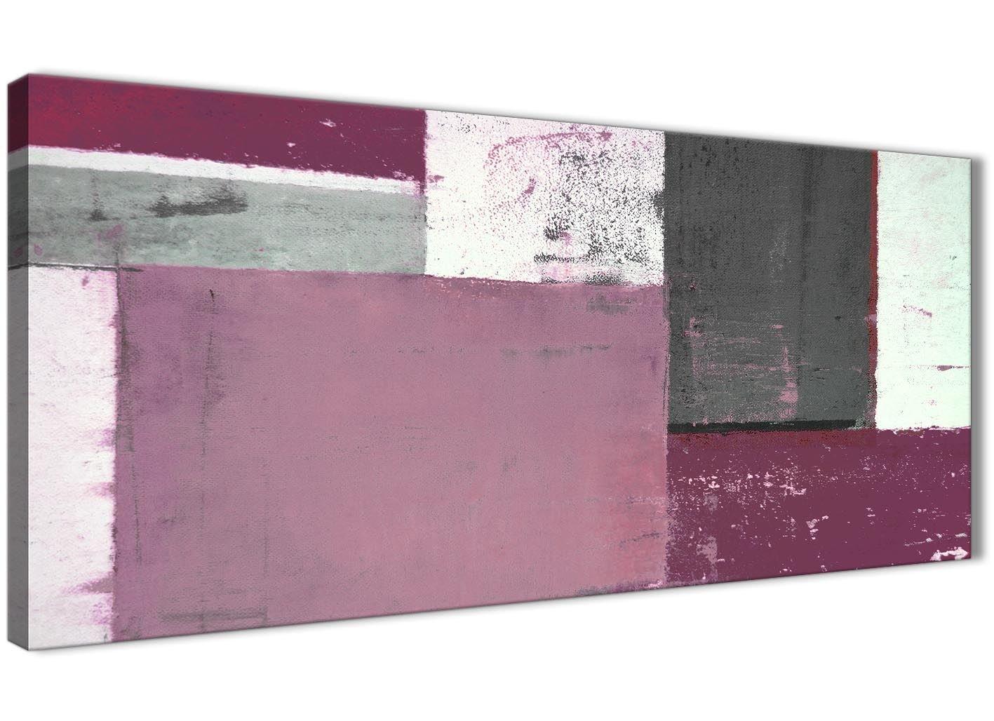 Color Prugna Per Pareti : Grigio prugna dipinto astratto tela da parete moderno largo 120 cm