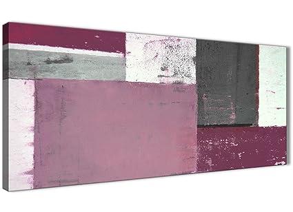 Color Prugna Per Pareti : Grigio prugna dipinto astratto tela da parete moderno largo