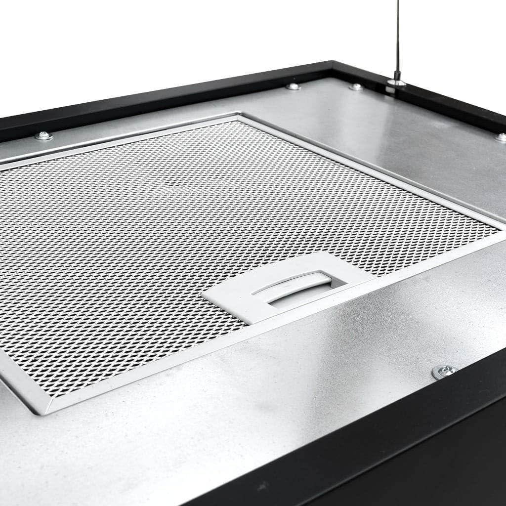 Benkeg Campana Extractora Colgante Táctil LCD Acero Recubierto Negro 55 X 37 X (62-133,5) Cm, 180 W, Ruido Bajo, Botones con Sensor: Amazon.es: Hogar