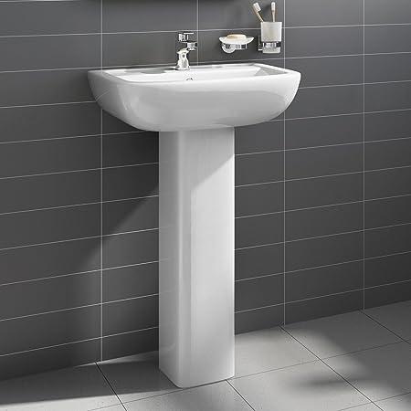 Charmant Short Projection Bathroom Pedestal Basin Compact Cloakroom Single Tap Hole  Sink