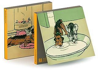 Cecil Aldin - Set di 6 biglietti per appunti, motivo: cane e gatto