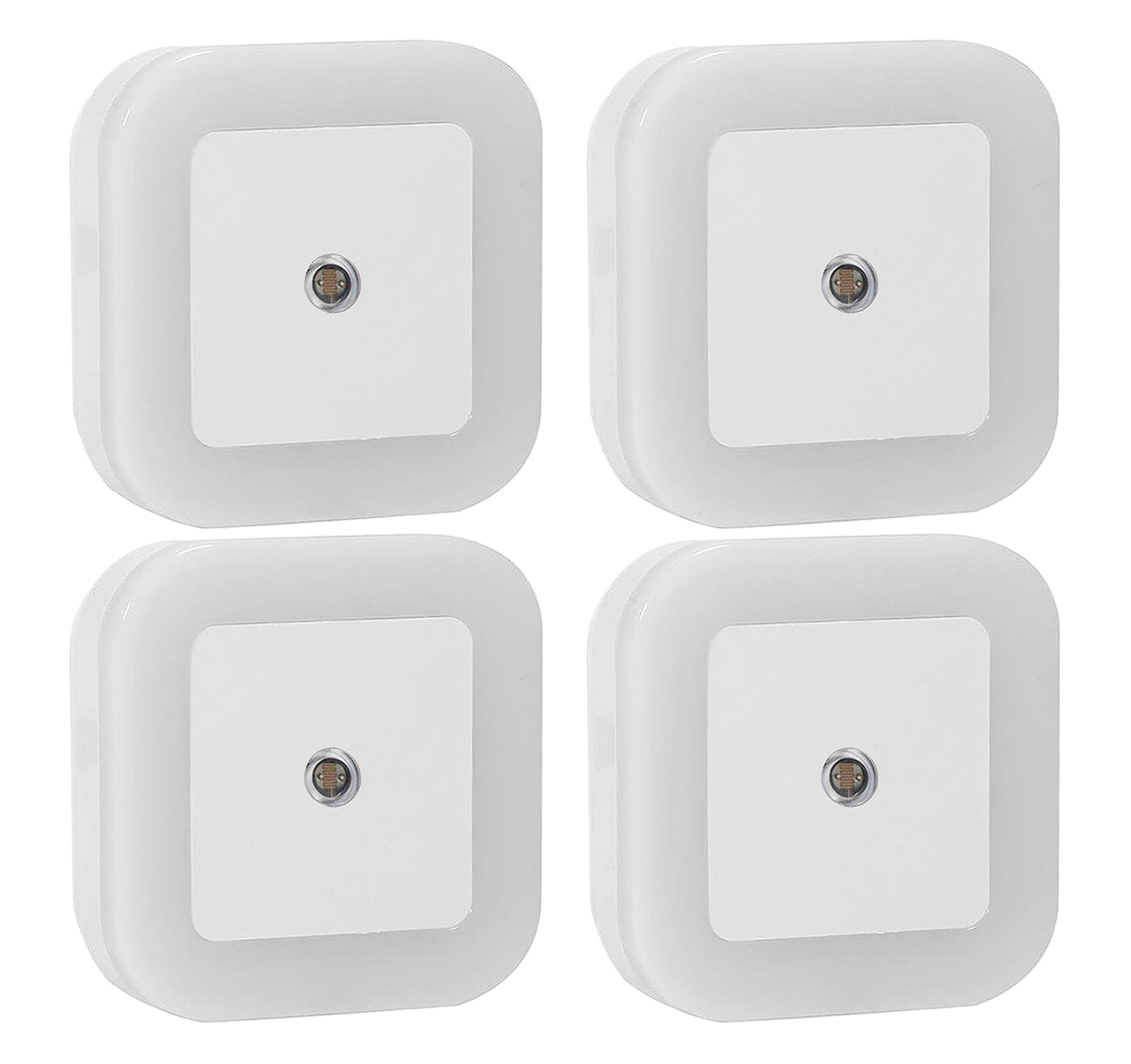 Galleon - Sycees 0.5W Plug-in LED Night Light Lamp With Dusk To Dawn Sensor, Daylight White, 4-Pack