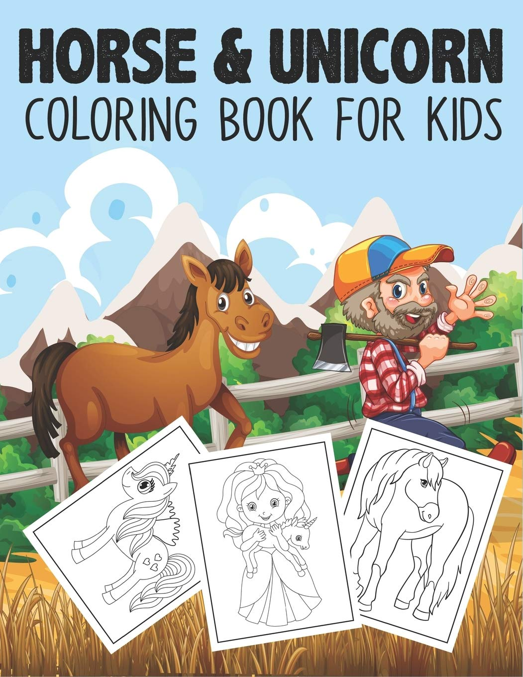 Horse & Unicorn Coloring Book For Kids A Super Amazing Horses And ...