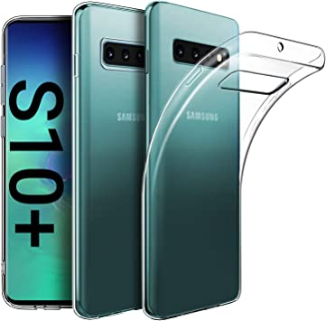EasyAcc Funda para Samsung Galaxy S10 Plus / S10+, Funda Case Ligera Cristal Transparente Premium TPU Protector Carcasa para Samsung Galaxy S10 Plus: Amazon.es: Electrónica