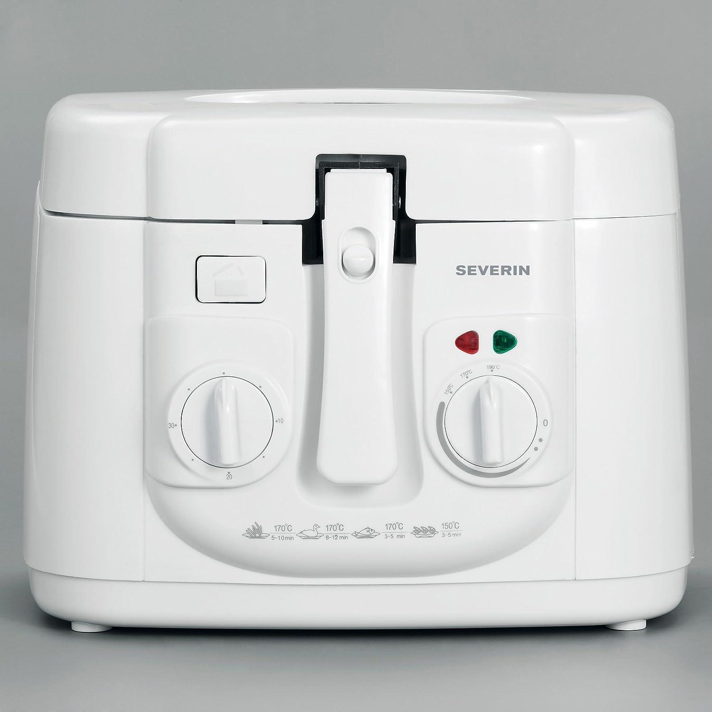 Severin FR 2433 Freidora, señal de aviso a los 30 min, capacidad 2,5 l, cantidad de fritura 500 g, 1.800 w, 1800 W, Blanco: Amazon.es: Hogar