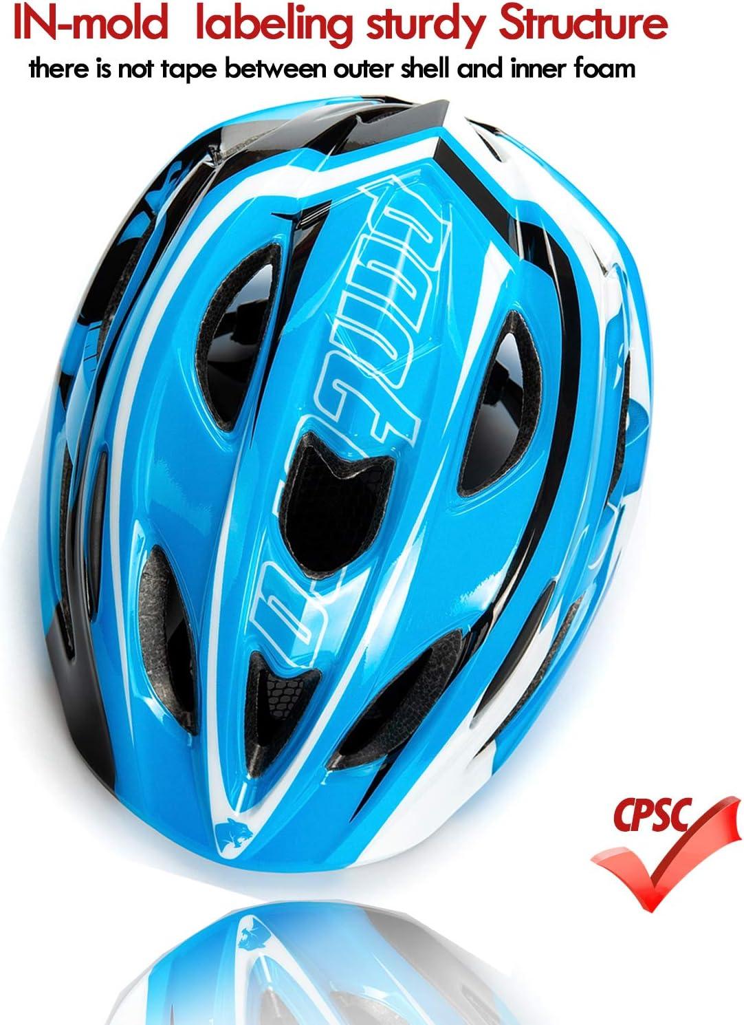Natuway Kids Bike Helmet Toddler Helmet for Girls and Boys Children 3-5 6 7 Adjustable CPSC Certified Muti-Sport Helmet Scooter Roller Skate Balance Bike