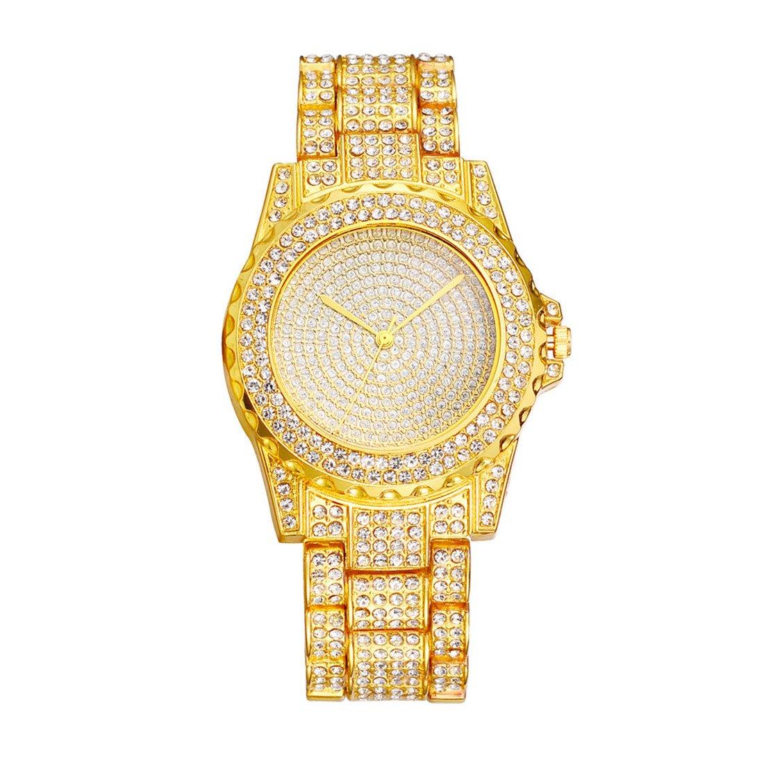 Amazon.com  Loweryeah Lady Steel Strap Watch Fake Bright Eyes Stars Rhine  Stone Flash Rhine Stone Dial 24cm  Watches 4c001e08ba