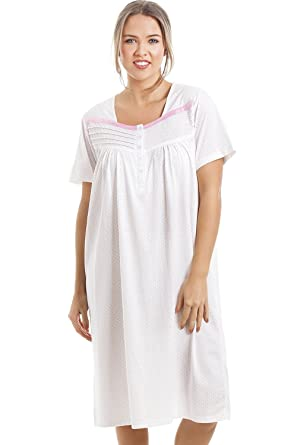Camille Soft Cosy Knee Length Short Sleeved Pink Polka Dot Nightdress   camille  Amazon.co.uk  Clothing 96af3d120