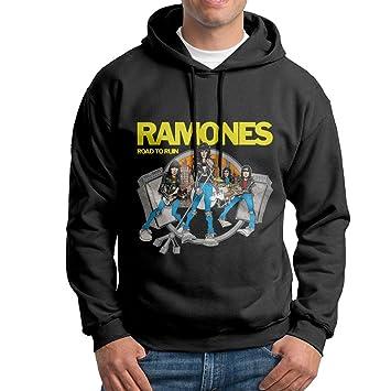 Ramones Punk banda sudadera con capucha hombres negro sudadera con capucha: Amazon.es: Deportes y aire libre