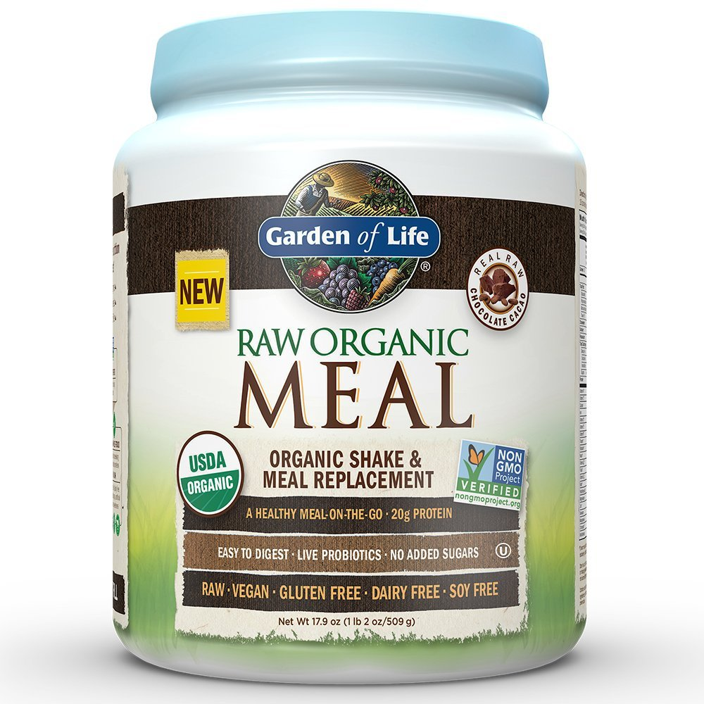 Garden Of Life Meal Replacement Organic Raw Plant Based Protein Powder Vanilla