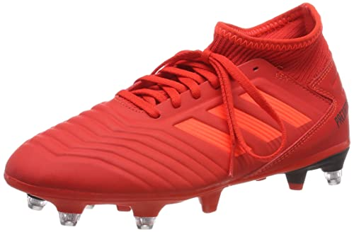 e35c1f2fa5cbb2 adidas Jungen Predator 19.3 SG J Fußballschuhe Mehrfarbig (Active Solar  Red Core Black Ee3688