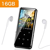 Mibao MP3 Players with Bluetooth 4.0 Digital Audio Music Player 16G Portable Lossless Sound MP3 Player with FM Radio/Picture/E-book, Support Expandable Max up to 64G, Music Headphones Included