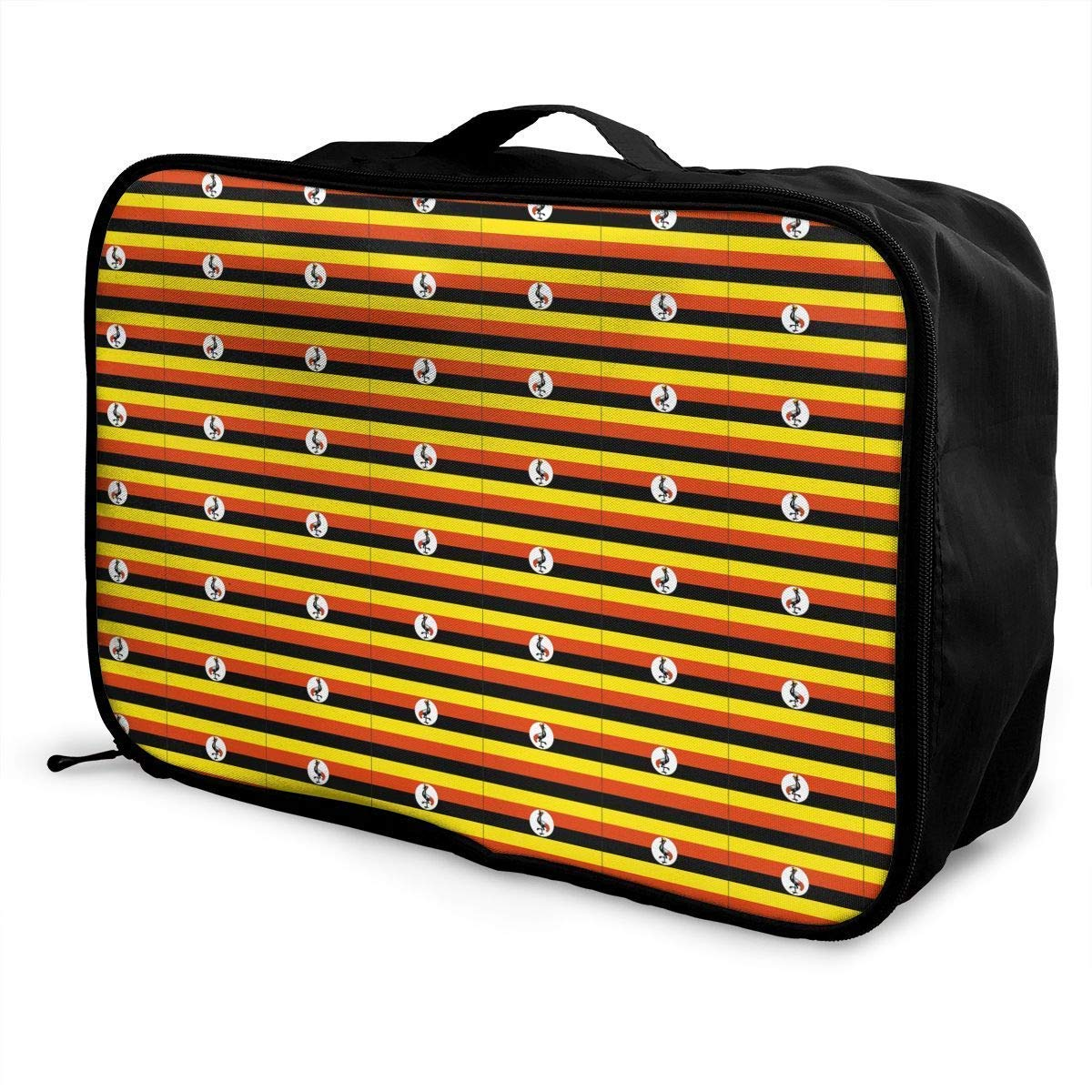 Portable Luggage Duffel Bag Originality Uganda Flag Travel Bags Carry-on in Trolley Handle JTRVW Luggage Bags for Travel