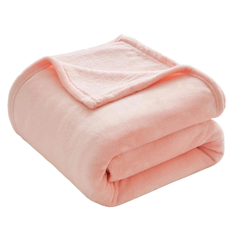 Super Confortables tr/ès Confortables VEEYOO Flanel Fleece Throw Blanket Couvertures Douces l/ég/ères et de All Seasons Rose Travle//Taille Unique 130x150cm