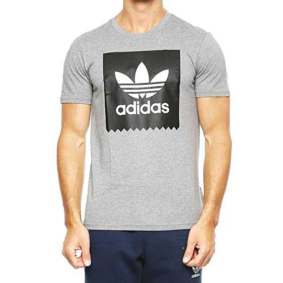 ADIDAS Solid Logo Fill Mens T-Shirt, Core Heather, Small