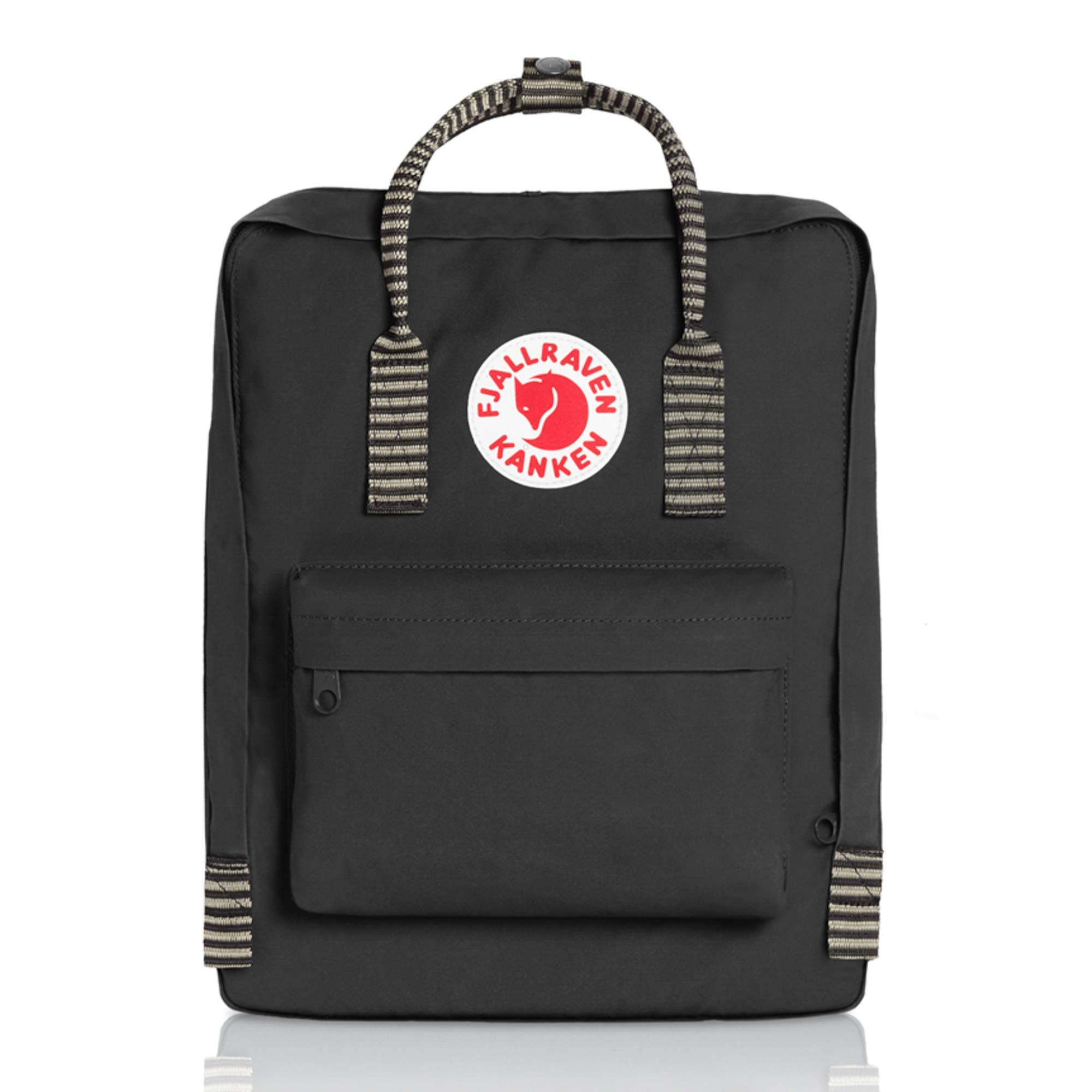 Fjallraven - Kanken Classic Backpack for Everyday, Black-Striped