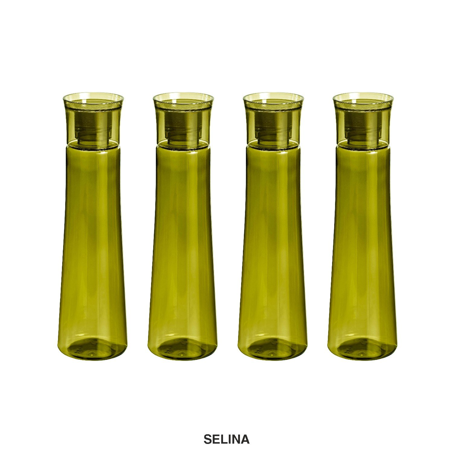 Steelo Selina Plastic Water Bottle, 1 Litre, Set of 4, Oliver Green (B0796TTXRN) Amazon Price History, Amazon Price Tracker