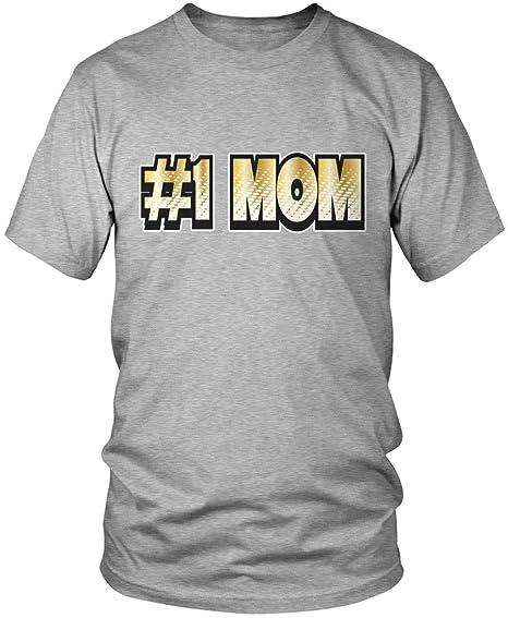 2845fa101efa0 Amazon.com: Amdesco #1 Mom, Mother's Day Shirts, Number One, No. 1 ...