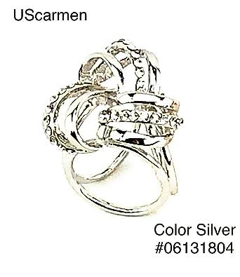 3d09e0972 UScarmen Women's Scarf Ring Blanket Scarf Wrap Shawl Scarf Buckle (Small  Scarf Ring, Silver