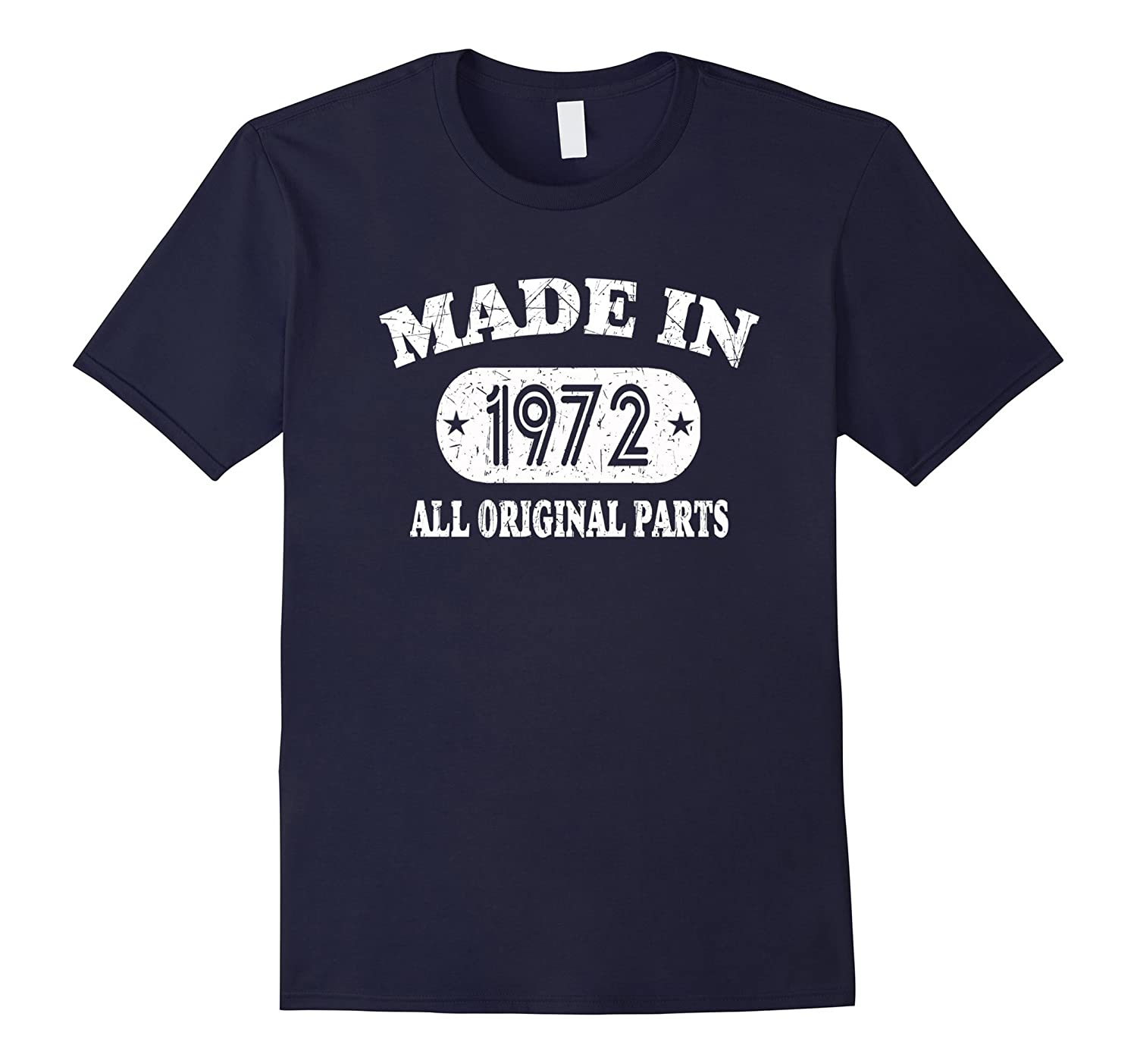 46th Birthday Gifts Made In 1972 All Original Parts T-Shirt-RT