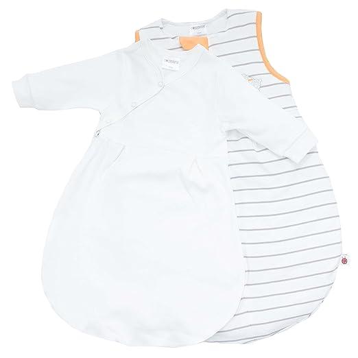 Ganzjahres Baby-Schlafsack 2-teilig – Langarm-Innensack & gefütterter Außensack