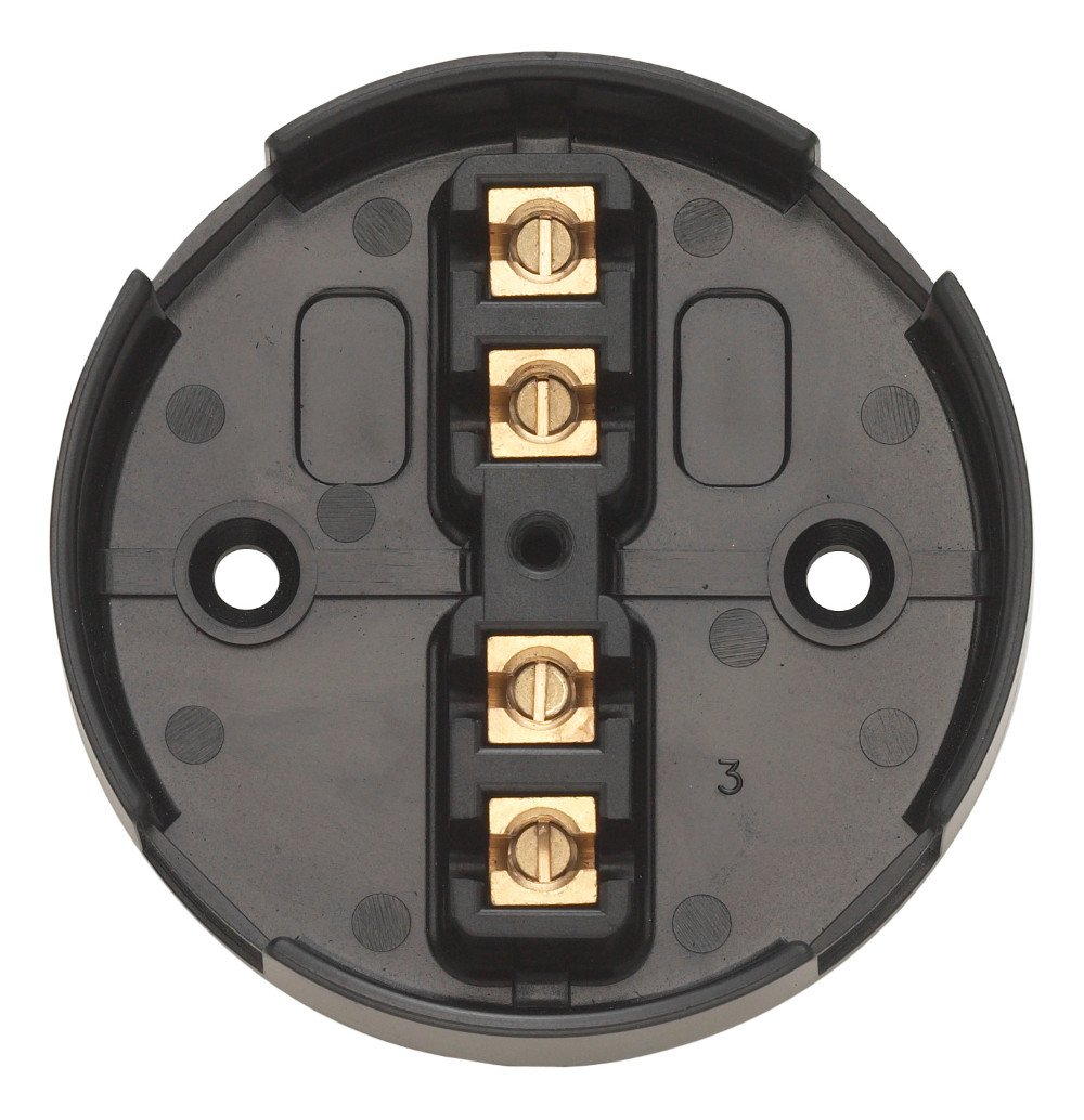 Contactum CAC2704 20A 4 Terminal Junction Box Black (Pack of 10)
