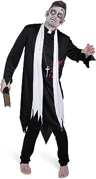 Generique - Disfraz de Cura Zombie Hombre M: Amazon.es ...