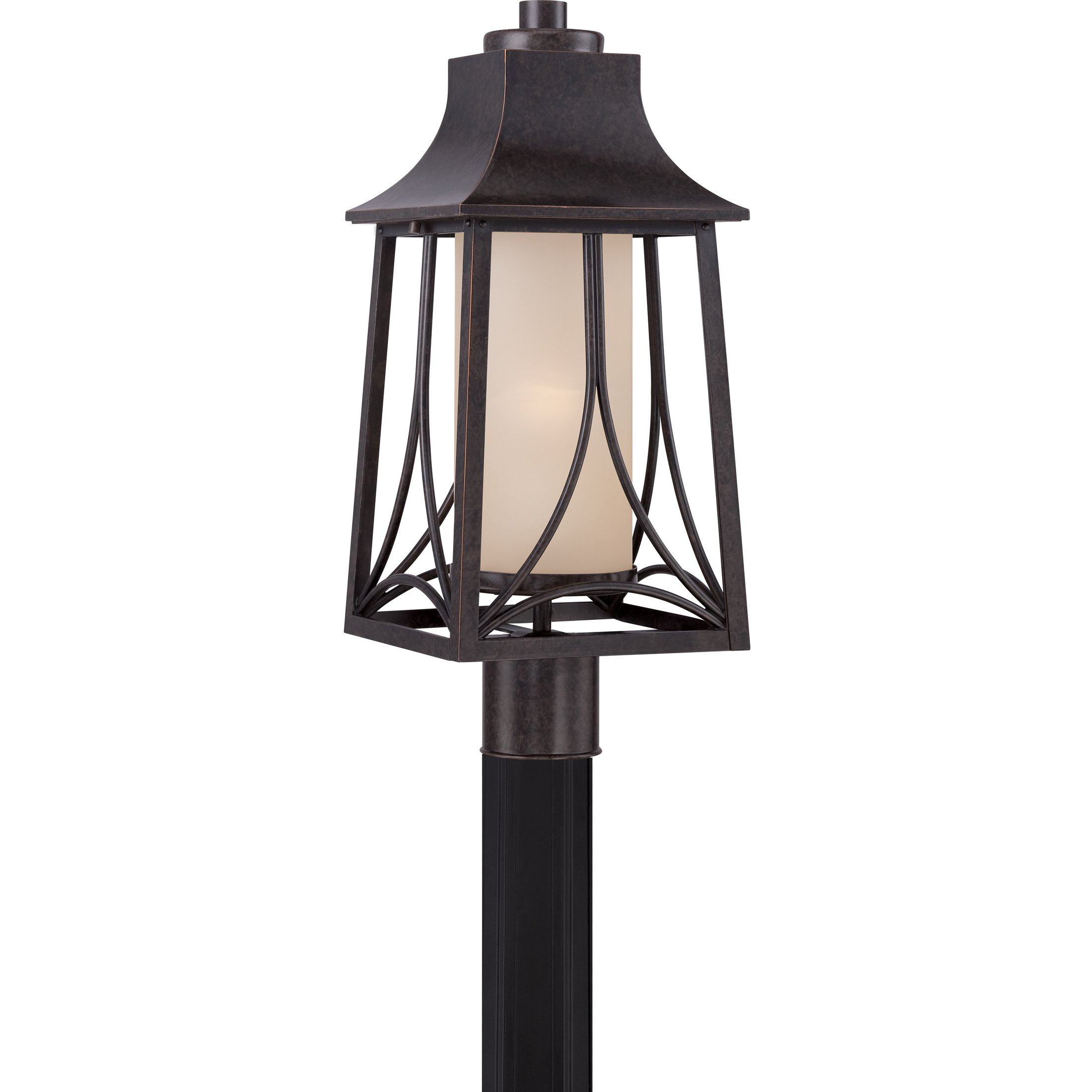 Quoizel HTR9008IB One Light Outdoor Post Lantern by Quoizel