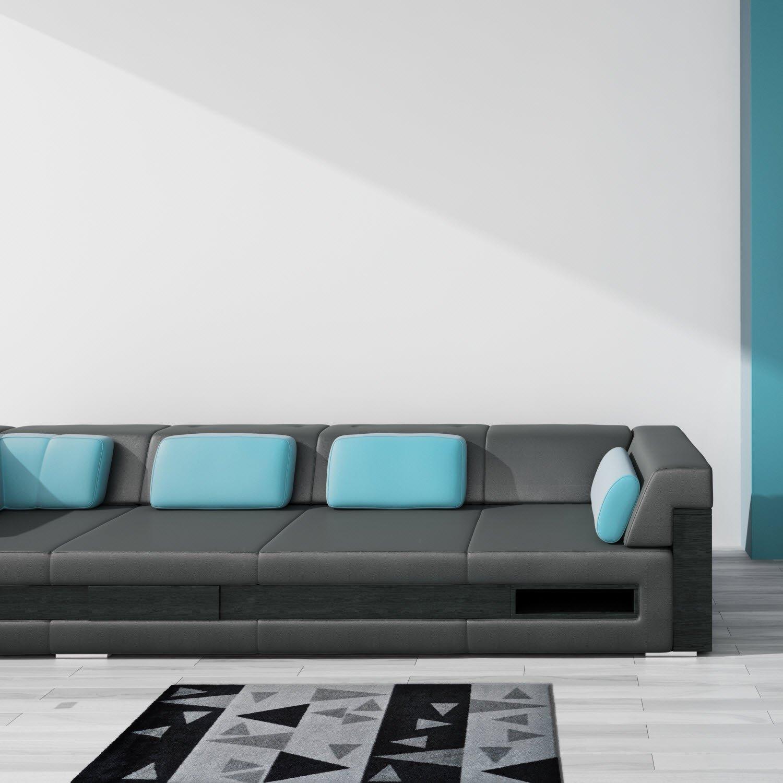 LifeStyle-Mat Designer Fussmatte Haustür – Fussmatten rutschfest und waschbar waschbar waschbar – Schmutzfangmatte   Fussabstreifer – GRAU 67x170cm e17574