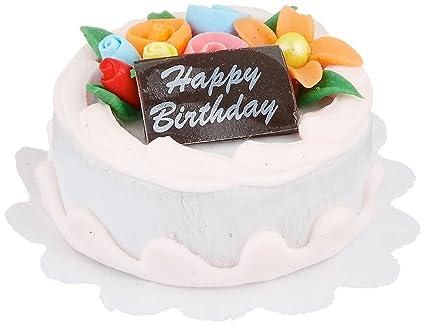 Darice Miniature 1 inch Happy Birthday Cake, 1