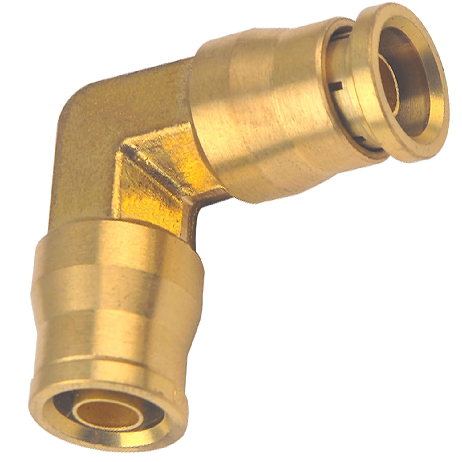 Part B606 1//4 Utah Pneumatic Pack of 2 1//4 Od D.O.T Approved Brass Push to Connect Elbow Union for Saej844 Nylon Air Brake Tube Applications