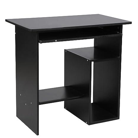 Vasagle Schreibtisch Computertisch Mit Tastaturauszug Pc Tisch