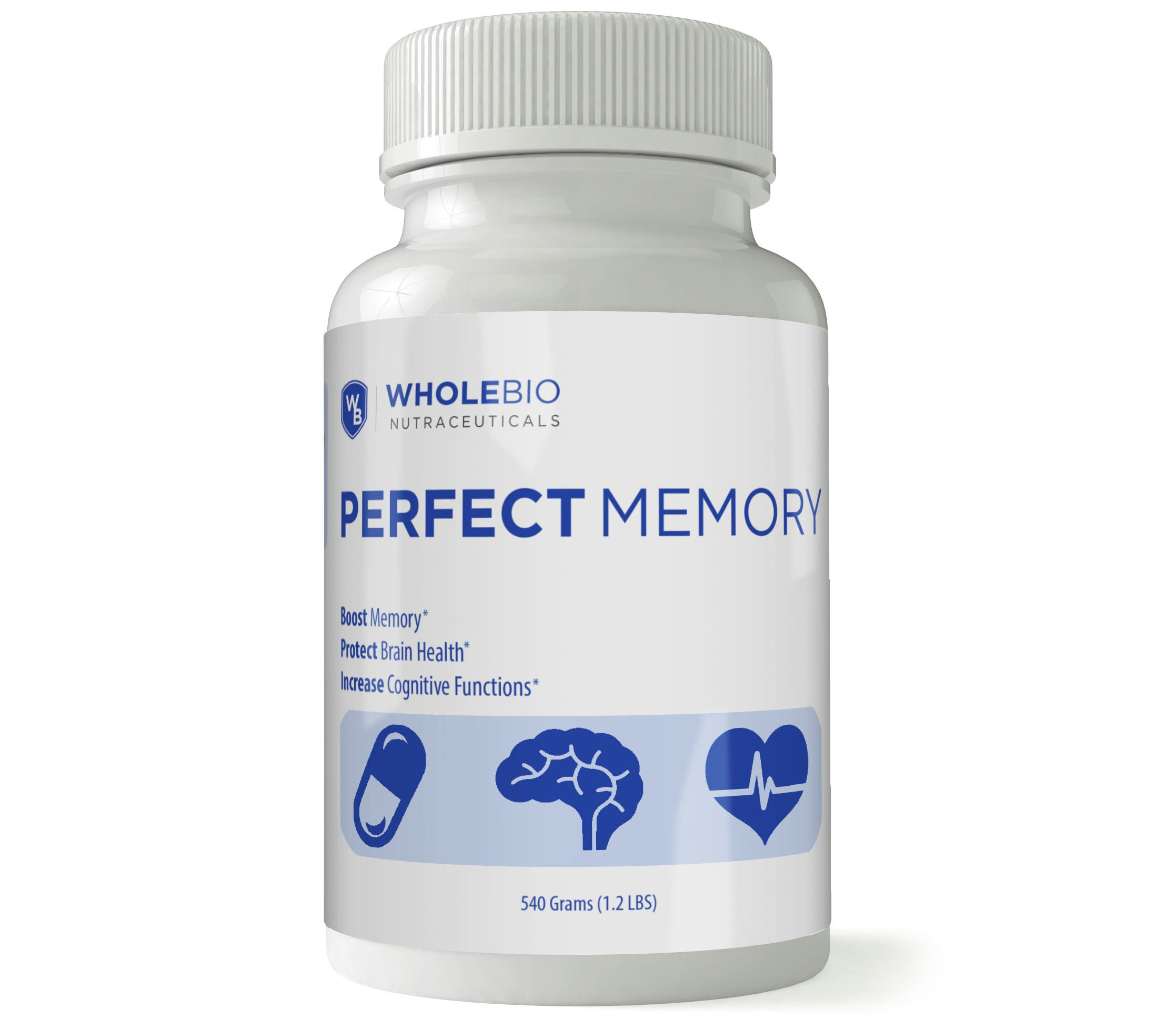 Best Brain & Memory Vitamin - US Patent Protected. Enhance Memory, Boost Brain Health. 120 Capsules per Bottle. 12 Ingredients (The Most of Any Memory Formula) - Perfect Memory by Perfect Memory