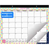 Desk Calendar by Belle Vous | Large Wall and Desk Monthly Agenda Planner Pad - Printed Monthly Academic Desk Pad for School and Office Supplies