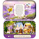 CUTEBEE Box Theatre Doll House Furniture Miniature, 1:24 DIY Dollhouse Kit for Kids (Sweet Dreams Among Blooms)
