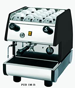 "La Pavoni 1 Group Commercial Espresso/Cappuccino Machine, 22"" H x 15""W x 21""D, Stainless/Black"