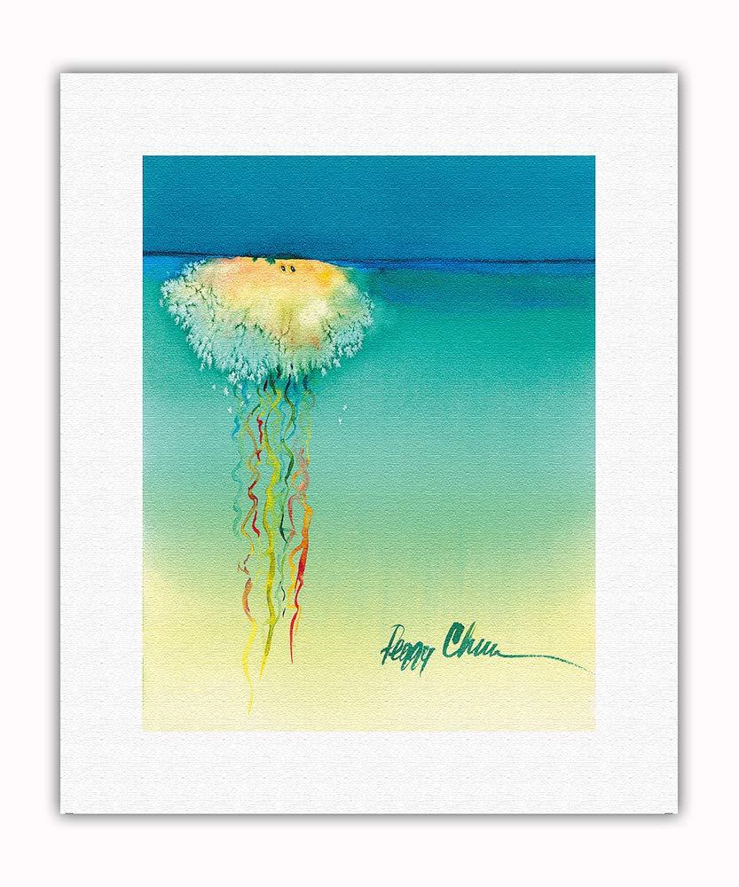 by Peggy Chun Pacifica Island Art 8in x 12in Vintage Tin Sign Pololia Lookin for Love Hawaiian Jellyfish