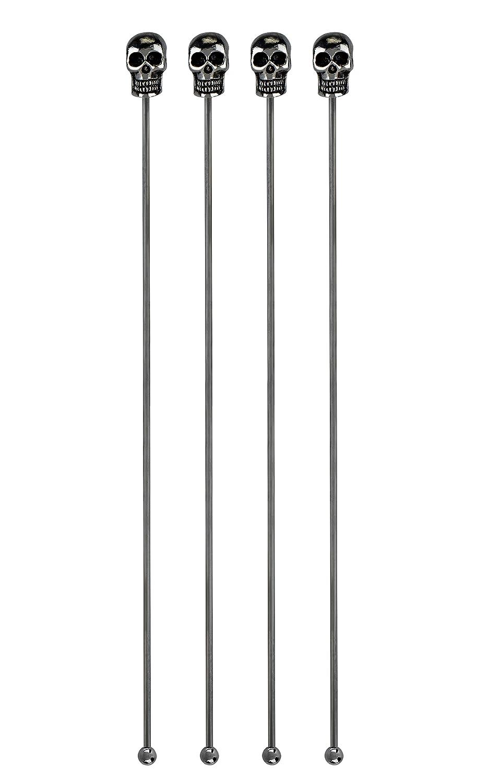 Silver Foster /& Rye 7190 Skull Stir Swizzle Sticks