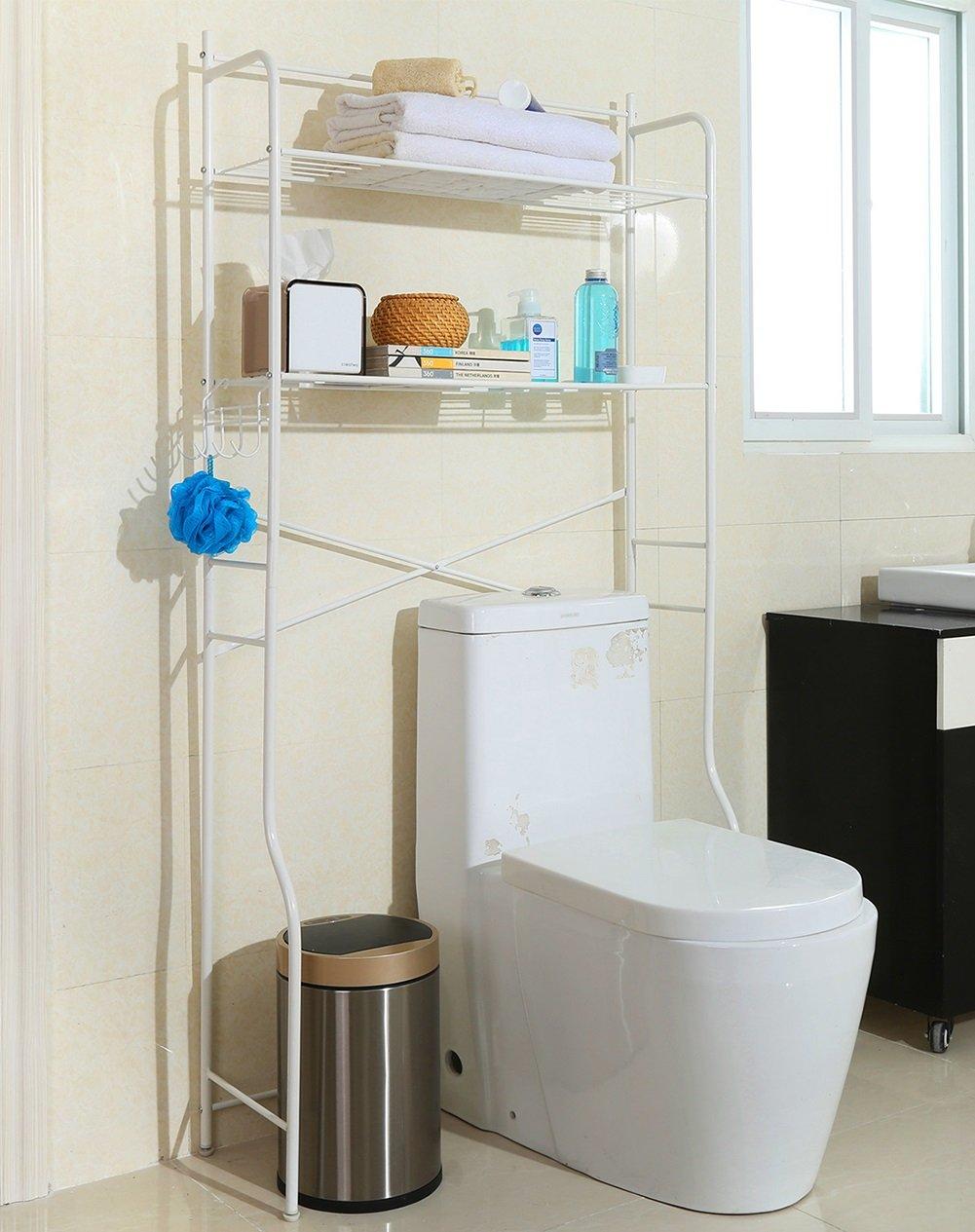 ERRU-étagères Toilette Machine de lavage en rack étagère étagère de produits Rack de lavage Double couche Étagères