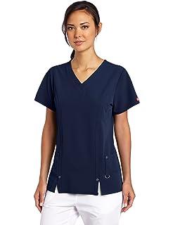5b5c4c18fdb Amazon.com: Dickies Xtreme Stretch 85956 Women's Mock Wrap Solid ...