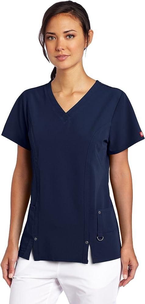8f3c059382b Amazon.com: Dickies Women's Xtreme Stretch V-Neck Scrubs Shirt, D ...