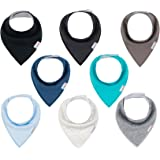 ALVABABY Bandana Drool Bibs 8 Pack Of Drooling Teething Feeding Super Absorbent 100% Cotton Bibs Unisex For Boys And Girls