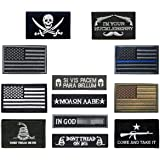 Antrix Tactical Patch of USA Flag Patch Thin Blue Line Patch Pirate Badge Emblem Patches Full Embroidery Military Patch Set f