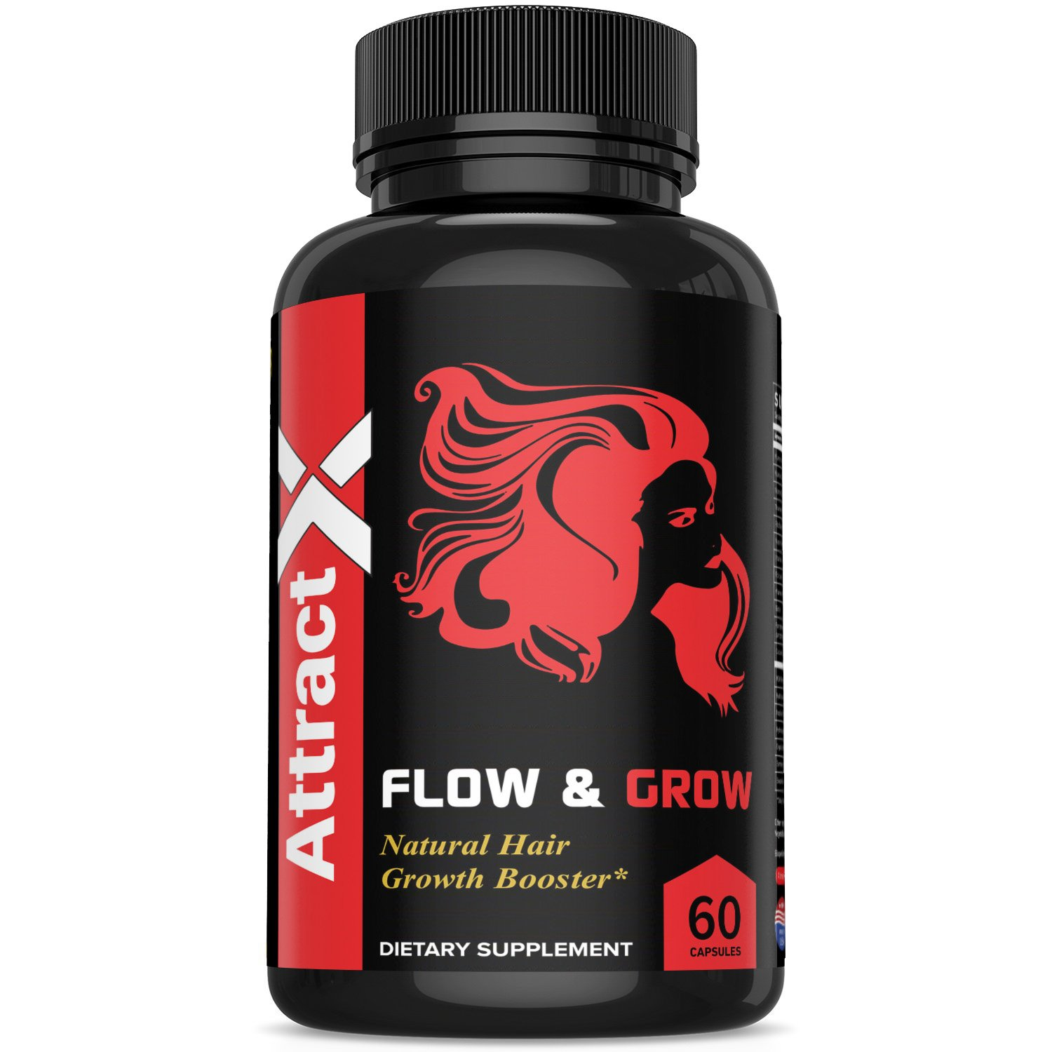 Flow and Grow - Hair Growth Supplement - for Healthy, Fast Growing Hair - Scientifically Formulated with Biotin, Vitamin D, Vitamin C, Bamboo & More! - Nourishes All Hair Types - Veggie Capsules